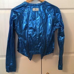 NWOT Stella McCartney x Adidas foil blue jacket